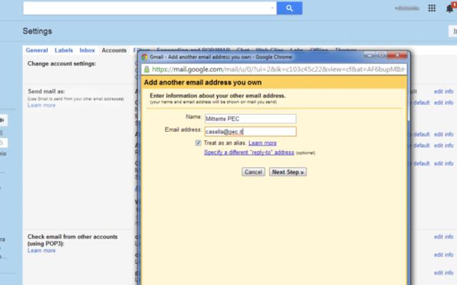 Configurare Pec su Gmail: SMTP