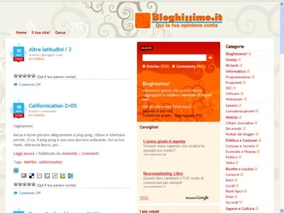 Aggregare i contenuti con bloghissimo semplice codice for F24 elide codice identificativo