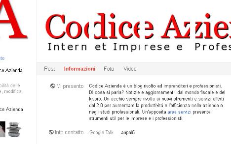 Pagine e promozione su google plus codice azienda for Calcolo istat locazioni